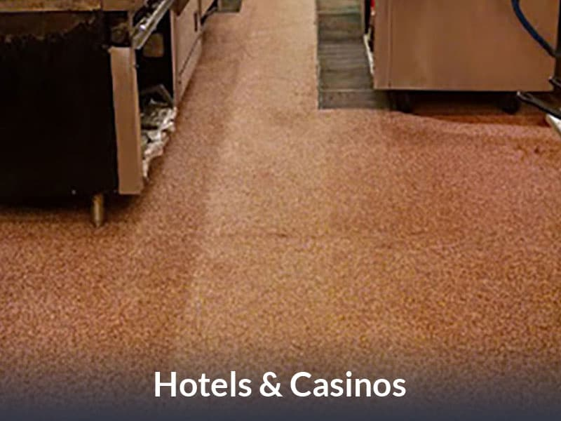 JetRock epoxy flooring applied to a hotel restaurant floor