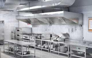 A commercial restaurant kitchen